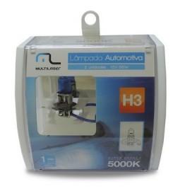 Lampada Automotiva H3 12V 55W Super Branca Multilaser (par)