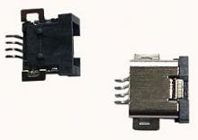 JACK SMD USB 4 PINOS P/ MP3 / I-POD / CAMERA DIGITAL