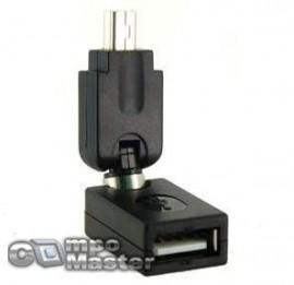 ADAPTADOR ARTICULADO MINI USB PARA USB NORMAL